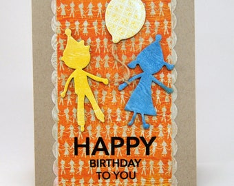 Boy and Girl Birthday Greeting Card