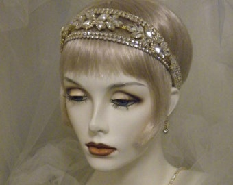 Art Deco 1920s Gatsby Wedding Headpiece
