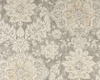 Two 26 x 26 Custom Designer Decorative Pillow Covers - Large Damask - Beige Grey Cream