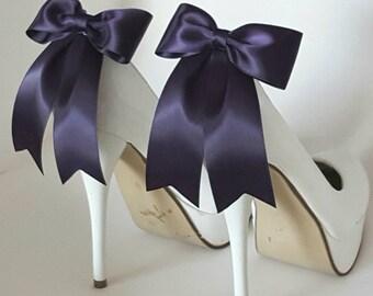 Shoe Clips, Bridal Shoe Clips, Satin Bow Shoe Clips, Shoes Clips,  Shoe Clips for Wedding Shoes, Bridal Shoes, MANY COLORS, shoe buckles
