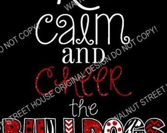 ORIGINAL DESIGN - Keep Calm and Cheer Shirt, Cheer Mom Shirt, Cheerleader, Football Mom shirt, Baseball Mom Shirt, Soccer Mom Shirt,