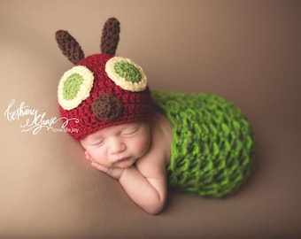 Caterpillar Cocoon and Hat | Newborn Photo Prop Costume | Spring Photography Props | Caterpillar Costume | Newborn Caterpillar | Animal Hat  sc 1 st  Etsy & Caterpillar Set Newborn Photo Prop Baby Costume Newborn