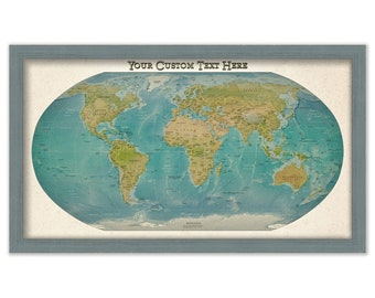 Push Pin Travel Map of the World