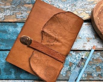 Leather Journal, Travel notebook, Travel Journal, Travel book, Handmade Journal