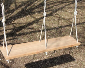 Double Tree Swing - Cedar with nylon rope