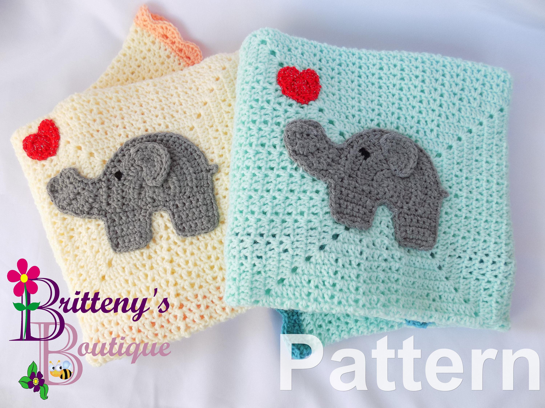 Elephant Baby Blanket Crochet Pattern Baby Blanket Crochet Pattern ...
