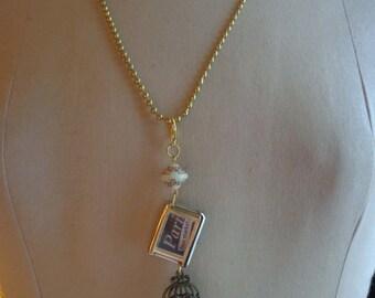 Paris Flea Market Necklace/pendant - Altered Art - Recycle - ECS