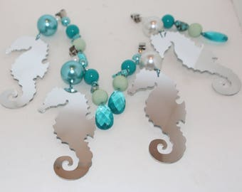 Seahorse Mirrored Tablecloth Weights Set of 4