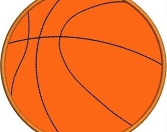 INSTANT DOWNLOAD Basketball Applique designs 3 sizes