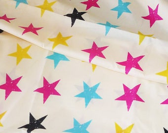 "Fabric polyester kid ""MULTICOLOR stars"""
