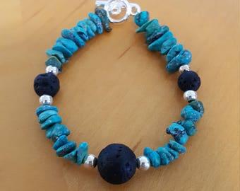 Turquoise Lava Stone Bracelet jewelry gift