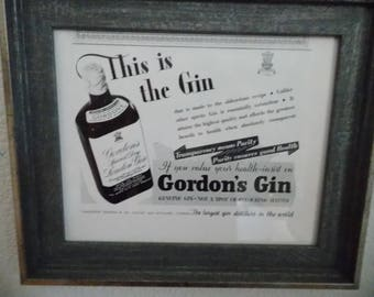 Original 1930s advertising page from Country Life magazine advertising Gin - choose one from the five shown