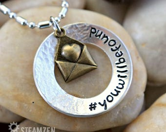 Dear Evan Hansen Inspired #YouWillBeFound Necklace - Broadway Musical - Theater gift - Actor gift - Fan Gift - Love Letter - Fandom - Unisex