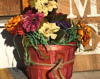 Lovely floral basket decor