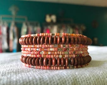 Wooden Beaded Bracelet from Mexico City