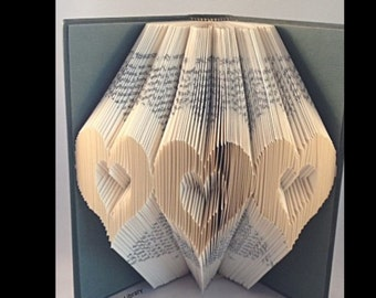 3 Cut Out Hearts Book folding PATTERN