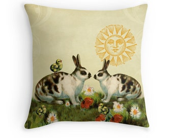 Elephant gifts elephant cushion elephant pillow valentines easter bunny rabbit lover gift girls room decor easter gift whimsical decor negle Gallery