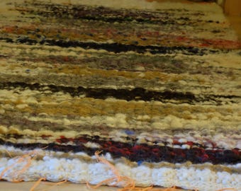 "Hand-woven carpet wool ""colors 2/5"""