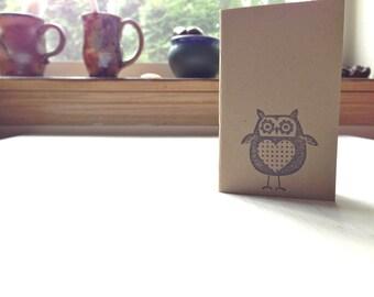 Cuaderno del buho: Pequeño diario, Linda, marrón, Kraft, Simple, niños, Jotter, diario Mini, pequeño cuaderno, cuaderno lindo, único, regalo, KR100