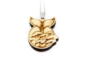 Animals Freedom Whale marine necklace sea Waves Wood