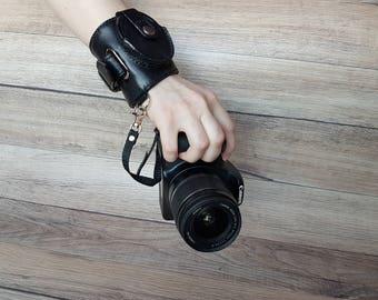 Wrist Camera Strap - Camera Accessories - Canon Camera Strap - Nikon Camera Strap - Camera strap with lens cap holder - Camera Strap Cover
