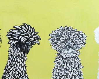 Chickens One Day, Feathers the Next - Chicken Illustration