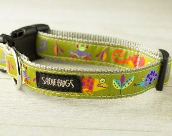 Jungle dog collar, lizard dog collar