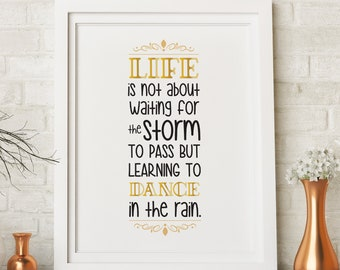 Dance In The Rain Wall Art, Home Decor, Digital Print