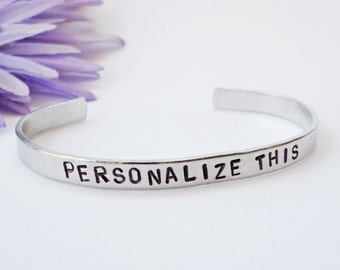 Custom Cuff - Personalized Bracelet - Name Gift - Wedding Gift - Wedding Jewelry - Anniversary Gift - Personalized Gift - Custom Bracele
