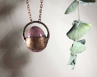 Talitha Necklace - Rhodonite