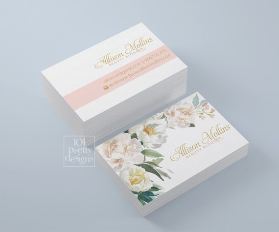 Floral business card design flowers business card template wajeb Images