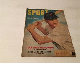 june 1953 sport magazine hand sauer chicago cubs cover