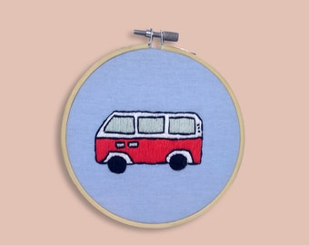 embroidery red van