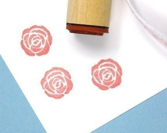 Solid Rose Rubber Stamp