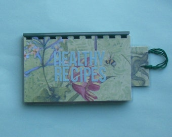 Handmade 'Healthy Recipes' blank Recipe book for Personal Recipes