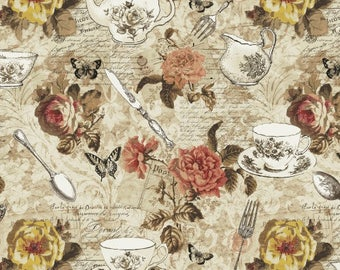 1/2 yd Afternoon Tea Main by Whistler Studios for Windham Fabrics 42824-X