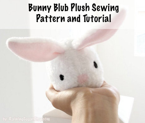 Plush toy sewing PATTERN and TUTORIAL, fleece bunny rabbit, easy ...
