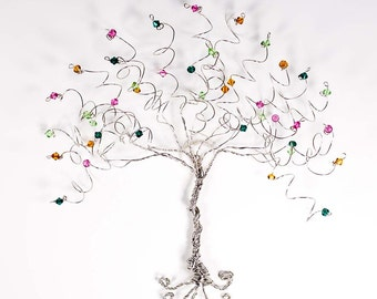 Tree of Life Wall Sculpture Custom Wire Tree Family Tree Wall Hanging Art Tree