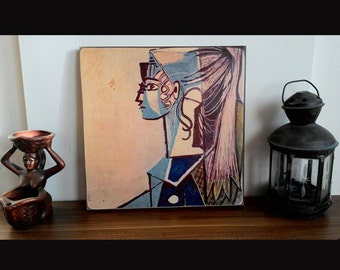 Pablo Picasso painting print on wood art print vintage home decor woodprint,print on wood