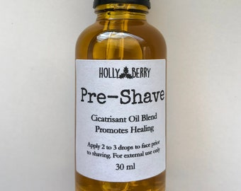 Pre-Shave Oil - Daily Mens Facial Oil - Curated Blend of Oils Promote Hair Growth and Healing Nicks