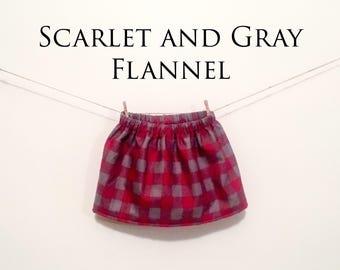 Buckeye Flannel Skirt