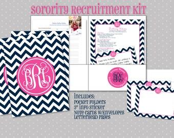 Sorority Rush Kit - Sorority Recruitment Folders