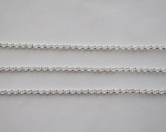 10 Meters, 1.6 mm Rolo Chain, Silver Plated Brass Chain, Basic Fashion Jewelry Chain, 1.6 mm BL, Quality Brass Chain