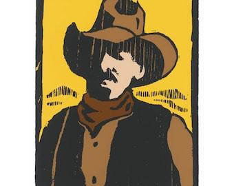 Westward, silkscreen print