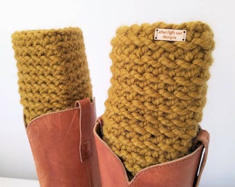READY TO SHIP - Crochet Boot Cuffs, Boot Toppers, Boot Socks, Chunky Boot Cuffs, Boot Warmers, Womens Stocking Stuffers, Snapdragon