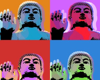 Buddha Pop art print - canvas