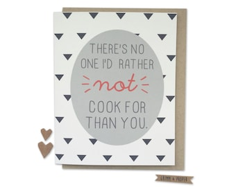 Funny Anniversary Card, Husband, Spouse, Partner, Significant Other, Not Cook For, Humor, Loving, Wedding Anniversary, From Wife, Love