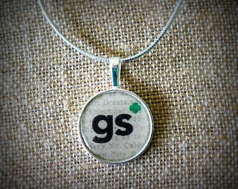 Girl Scout Inspired Necklace. Perfect for leader, mom, Daisy, Brownie, Junior, Cadet, or Senior ranks.