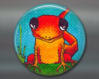 "3.5"" orange lizard magnets for kids locker decorations - cute fridge magnets for the kitchen - magnetic gifts for kids - MA-102"