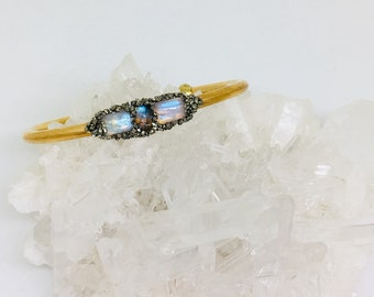 Labradorite / Moonstone Cuff